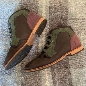 Ahnu brown & green waterproof booties